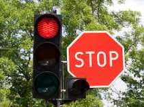 Stop Light & Sign